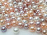 8-8.5mm round multicolor freshwater loose pearls wholesale, AA+