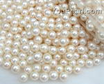 6.5-7mm wholesale white round freshwater pearl bead, AA+