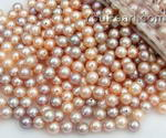 6.5-7mm lavender or pink round loose pearls wholesale, AA+