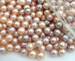 7-7.5mm pink or lavender freshwater pearl beads wholesale, AA+
