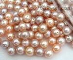 8.5-9mm lavender or pink round freshwater loose pearls wholesale, AAA