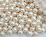 9-10mm wholesale freshwater white round loose pearls, AA