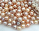9-10mm pink or lavender freshwater loose pearl beads wholesale, AA