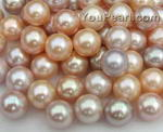 10-11mm pink or lavender round freshwater pearl beads wholesale, AA+