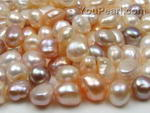 9-11mm AAA multicolor freshwater pearl baroque nugget beads 10pcs wholesale