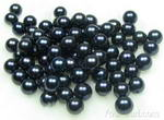 7-8mm freshwater black round pearl beads buy direct, AA+
