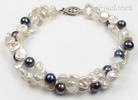 Double strand freshwater pearl twisted bracelet buy online