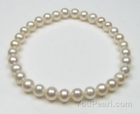 Child pearl bracelet, fresh water pearl elastic bracelet for sale online, 6""