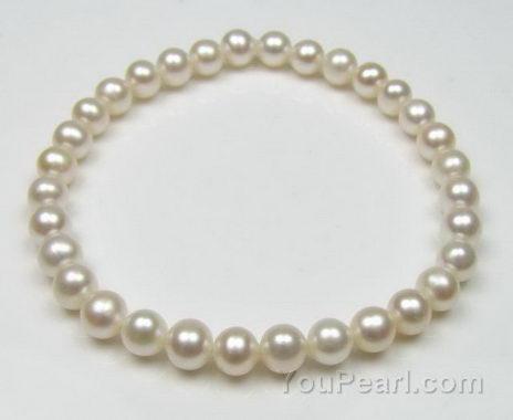 Child Pearl Bracelet Fresh Water Elastic For Online