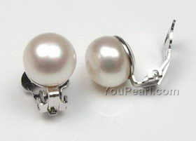9 10mm Lavender Pearl Clip Earrings For Non Pierced Ears On