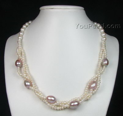 Twisted cultured fresh water pearl necklace bulk sale - pearl ... 78c9ead424