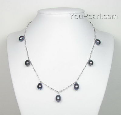 Sterling silver black pearl necklace whole sale online 5b4313aad2