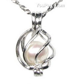 Sterling cage freshwater pink wish pearl pendant wholesale 7 8mm sterling cage freshwater pink wish pearl pendant wholesale 7 8mm mozeypictures Image collections
