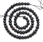 5-6mm black potato freshwater cultured pearl beads on sale