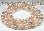 8mm multicolor freshwater pearl strands wholesale