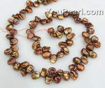 6-8mm top drilled brown Keishi pearl strand wholesale