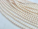 8.5-9.5mm white round freshwater pearl strands wholesale, AA
