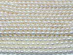 4.5-5mm white tear drop freshwater pearl strands on sale, A, AA
