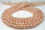 8-9mm pink fresh water baroque pearl strand wholesale online
