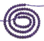 Amethyst quartz, 4mm round, natural gem stone beads on sale