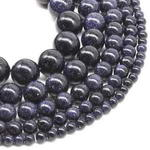 Blue sandstone, 6mm round, gem stone beads on sale