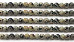 Dalmatian jasper, 4mm round, natural gemstone beads wholesale