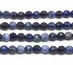 Sodalite, 8mm round faceted, natural gem beads wholesale
