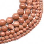Gold sandstone, 6mm round, gem stone beads on sale