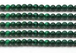Malachite, 4mm round, gemstone beaded craft supply