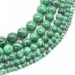 Malachite, 12mm round, simulated gemstone beads for sale
