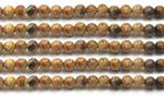 Picture jasper, 4mm round, natural gemstone beads wholesale