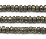 Pyrite, 5x8mm roundel faceted, natural gemstone beads discounted sale