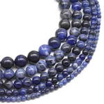 Sodalite, 8mm round, natural blue stone gem beads for sale