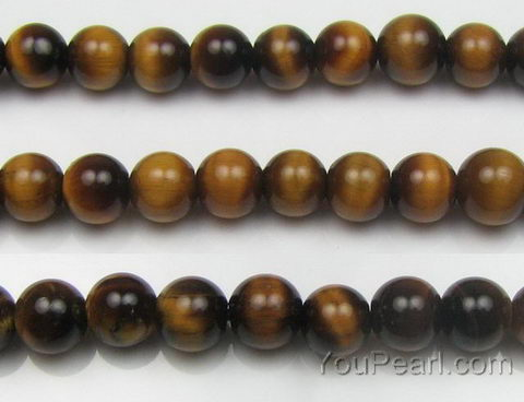 tiger eye 8mm round natural gem bead strand bulk sale pearl