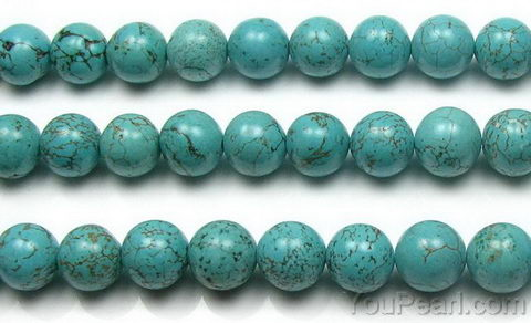Turquoise, 8mm round, natural gem beads jewelry making suppliers