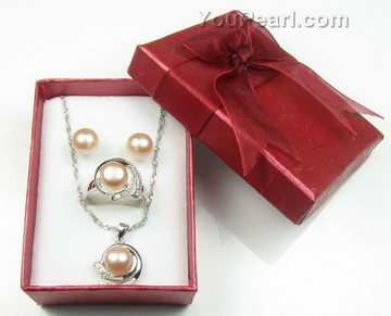 Jewelry set boxes cardboard boxes on sale 12 pcs pearl jewelry