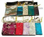 Rectangle jewelry silk pouch bulk wholesale, 12 pcs