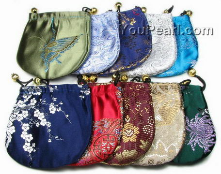 Round Silk Jewelry Gift Pouch Whole Online 13cm 12 Pcs