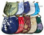 Wholesale round silk jewelry gift pouch factory direct, 11cm, 12 pcs