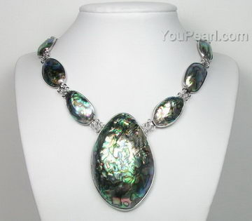 Abalonepaua shell necklace with big pendant on sale 40x65mm abalonepaua shell necklace with big pendant on sale 40x65mm aloadofball Image collections