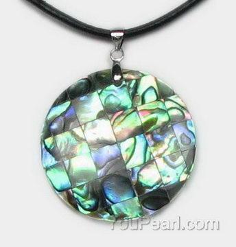 Natural abalone mosaic round shell pendant bulk sale pearl natural abalone mosaic round shell pendant bulk sale aloadofball Image collections