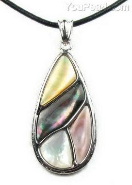 9b41e3e2bf7 Multicolor teardrop shell pendant whole sale - pearl jewelry wholesale