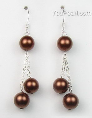 shell pearl earrings sp1390 fe m - Pearl Jewellery