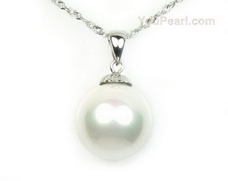 White south sea shell pearl pendant sterling silver 12mm pearl 12mm white south sea rainbow shell pearl sterling pendant on sale aloadofball Image collections
