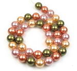 10mm round multicolor shell pearl strand on sale