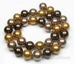 12mm round multicolor shell pearl craft supply