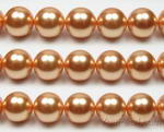 14mm round gold shell pearl jewelry making supply