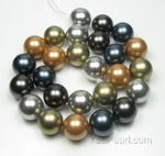 16mm round multicolor big shell pearl manufacturer direct sale